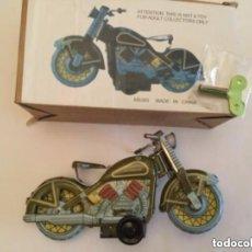Juguetes antiguos de hojalata: MOTO -MARCA N R- CON LLAVE- 13 CM.X 6. Lote 204181935