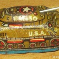 Juguetes antiguos de hojalata: M50 USA TANQUE PULGA O MINI TANQUE HOJALATA LITOGRAFIADA, FUNCIONANDO A CUERDA. Lote 204477972