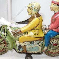 Jouets anciens en fer-blanc: MOTO,MOTOCICLETA,ANTIGUA RICO,LEER DESCRIPCION. Lote 204514046