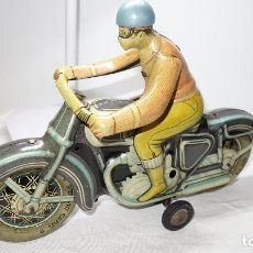 Jouets anciens en fer-blanc: MOTO,MOTOCICLETA,ANTIGUA PAYA,LEER DESCRIPCION. Lote 204514702