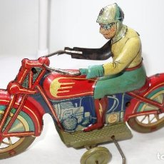 Jouets anciens en fer-blanc: MOTO,MOTOCICLETA,ANTIGUA PAYA,LEER DESCRIPCION. Lote 204515118