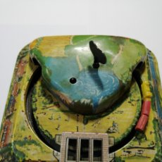 Juguetes antiguos de hojalata: CIRCUITO TREN HOJALATA LITOGRAFIADA. Lote 205266108