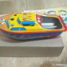 Brinquedos antigos de folha-de-Flandres: ANTIGUA LANCHA PUF PUF EN CAJA ORIGINAL Y SUS COMPLEMENTOS INTACTOS. Lote 206498908