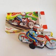 Juguetes antiguos de hojalata: MOTO ROMAN. Lote 206506537