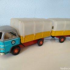 Brinquedos antigos de folha-de-Flandres: ARNOLD ALEMANIA, ANTIGUO CAMION MAN DIESEL CON REMOLQUE. Lote 206580916