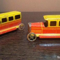 Brinquedos antigos de folha-de-Flandres: COCHES ANTIGUOS DE HOJALATA. Lote 207140175