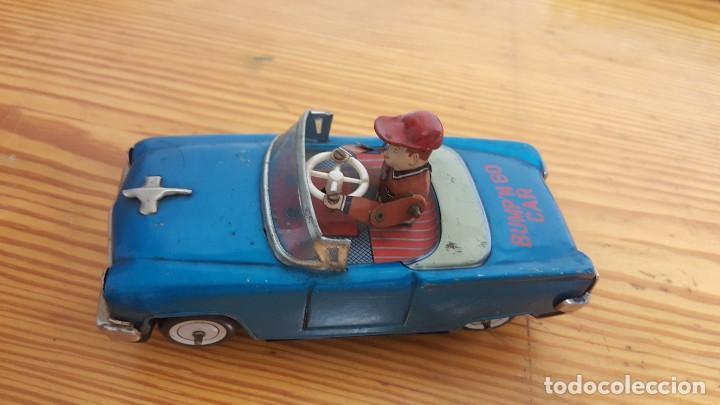COCHE YOSHIYA BUMP'N GO CAR - MADE IN JAPAN - HOJALATA - CON MECANISMOS FUNCIONANDO. AÑO 1960. (Juguetes - Juguetes Antiguos de Hojalata Extranjeros)