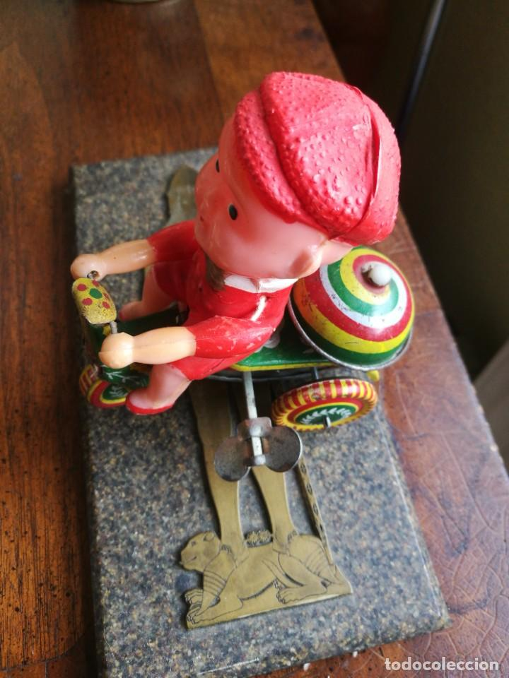 JUGUETE CELULOIDE Y LATA MECÁNICO (Juguetes - Juguetes Antiguos de Hojalata Extranjeros)