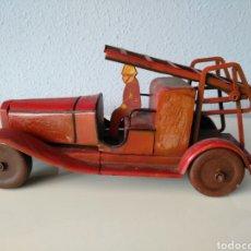 Brinquedos antigos de folha-de-Flandres: JEP FRANCIA, ANTIGUO CAMION DE BOMBEROS DE HOJALATA. Lote 207820488