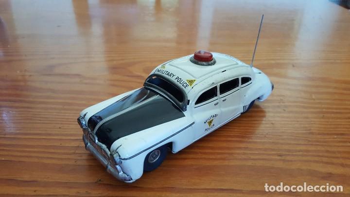 Juguetes antiguos de hojalata: Coche Tippco policía militar Hudson. Made in Western Germany. Hojalata Litografiada. De fricción. - Foto 2 - 209238250