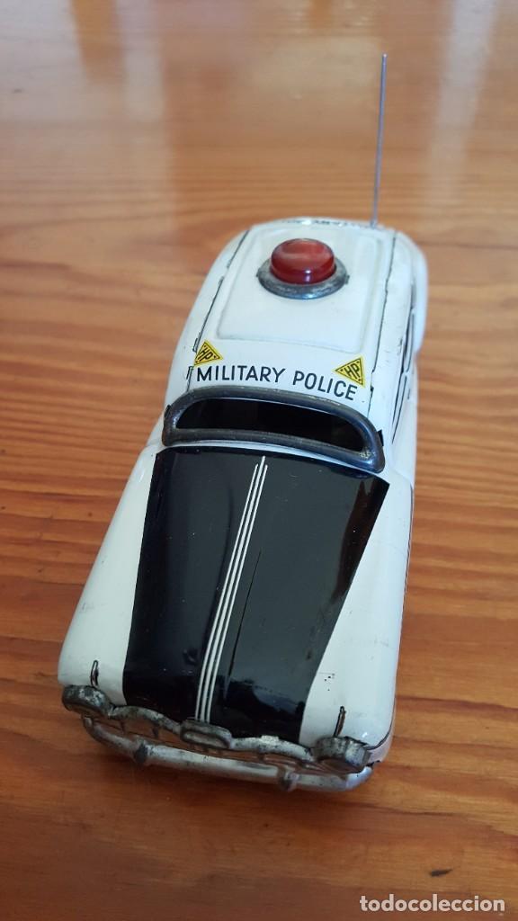 Juguetes antiguos de hojalata: Coche Tippco policía militar Hudson. Made in Western Germany. Hojalata Litografiada. De fricción. - Foto 4 - 209238250