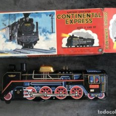 Brinquedos antigos de folha-de-Flandres: TREN JUGUETE AÑOS 60. CONTINENTAL EXPRESS A PILAS. NO FUNCIONA.. Lote 209796223