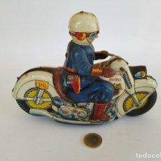 Brinquedos antigos de folha-de-Flandres: MOTO POLICIA HOJALATA JAPONESA ´60S USAGIYAI. Lote 210239162