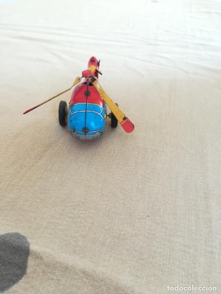 Juguetes antiguos de hojalata: JUGUETE DE HOJALATA TIN TOYS HELICOPTERO - Foto 3 - 210271568