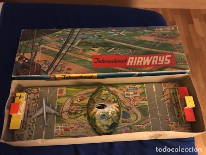 INTERNATIONAL AIRWAYS - TECHNOFIX - MODELO 309 - BUEN ESTADO - MADE IN W GERMANY AÑOS 60 (Juguetes - Juguetes Antiguos de Hojalata Extranjeros)