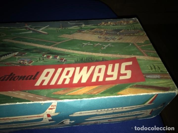 Juguetes antiguos de hojalata: International AIRWAYS - Technofix - Modelo 309 - Buen estado - Made in W Germany años 60 - Foto 40 - 210698091