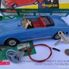 Brinquedos antigos de folha-de-Flandres: SCHUCO MAGICO 2010 ALFA ROMEO GIULIETTA AZUL, PERFECTO ESTADO CON CAJA ORIGINAL COMPLETA.. Lote 211554817