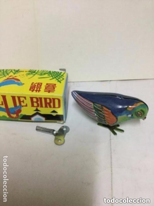 Juguetes antiguos de hojalata: Blue bird- ms 029- cuerda - Foto 2 - 211661458