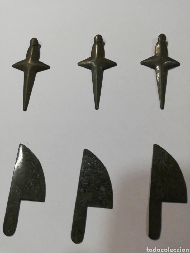 Juguetes antiguos de hojalata: 12 CACHARRITOS DE HOJALATA, DE COCINITA. - Foto 2 - 211882500