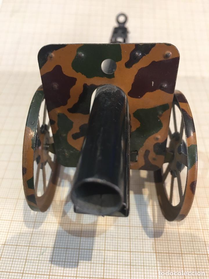 Juguetes antiguos de hojalata: Cañon antiguo para maqueta de juguete - Foto 4 - 211971956