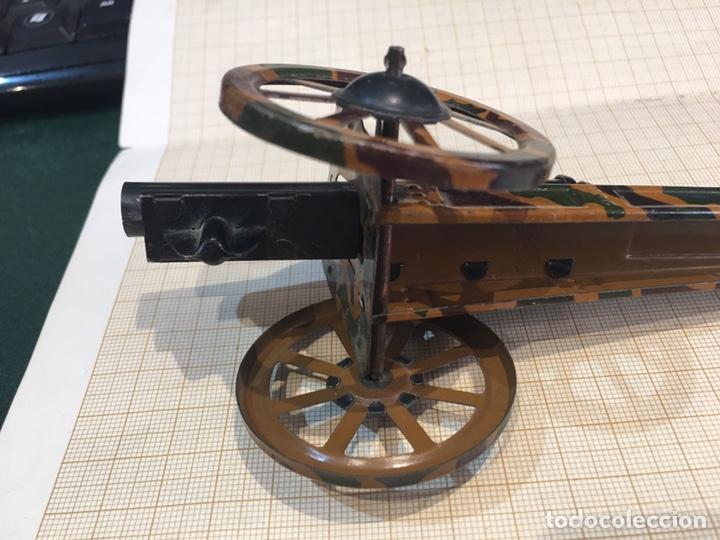 Juguetes antiguos de hojalata: Cañon antiguo para maqueta de juguete - Foto 7 - 211971956