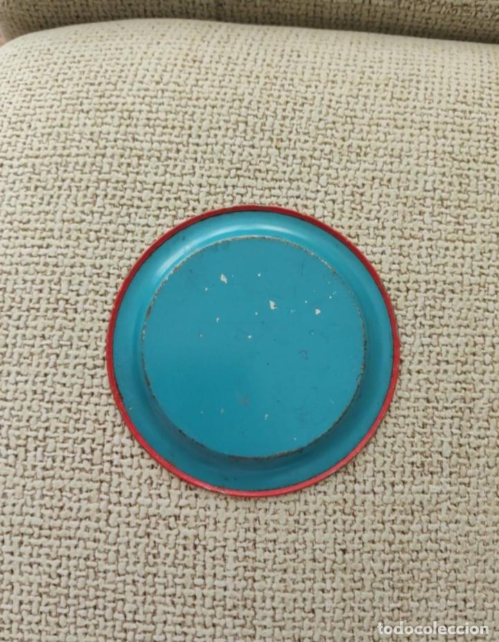 Juguetes antiguos de hojalata: Antiguo plato de juguete de hojalata - Foto 2 - 212700745