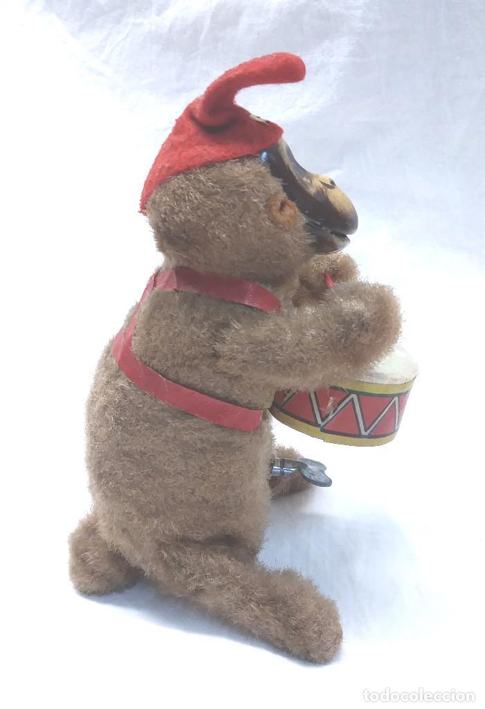 Juguetes antiguos de hojalata: Mono Tambor con mecanismo de Cuerda, buen estado, funciona. Made in Japan. Med. 14 cm - Foto 2 - 212887347