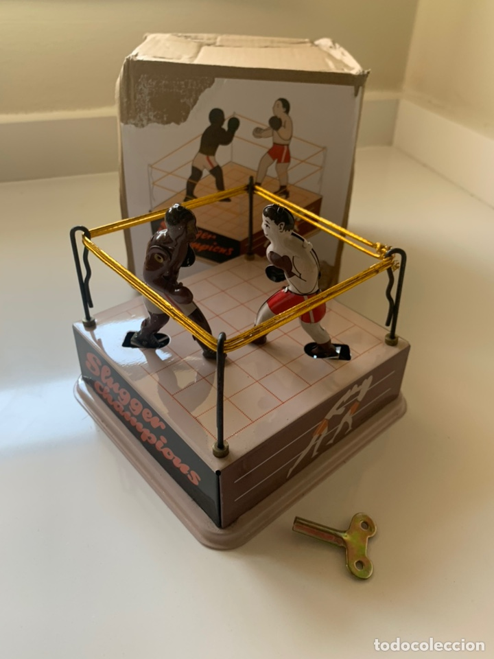 JUGUETE DE HOJALATA RING DE BOXEO (Juguetes - Juguetes de Hojalata: Reproducciones y Actuales )