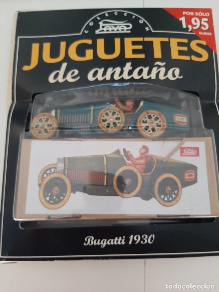 COLECCION JUGUETES DE ANTAÑO PAYA BUGATTI 1930 CAJA ORIGINAL Y FASCICULOS (Juguetes - Juguetes de Hojalata: Reproducciones y Actuales )