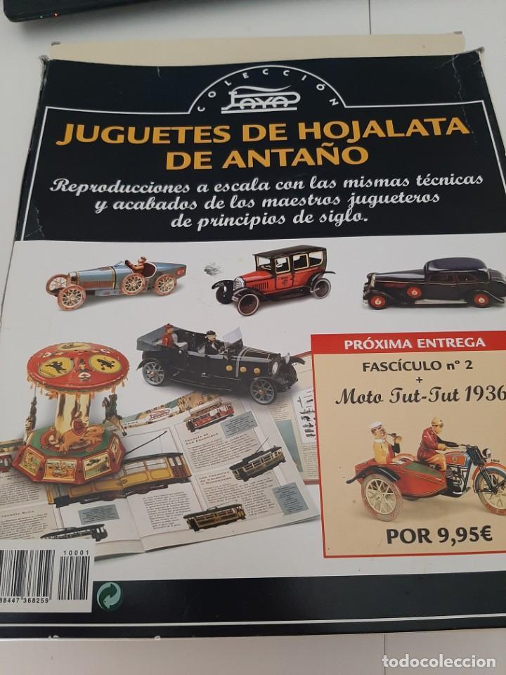 Juguetes antiguos de hojalata: COLECCION JUGUETES DE ANTAÑO PAYA BUGATTI 1930 CAJA ORIGINAL Y FASCICULOS - Foto 2 - 213312857