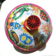 Juguetes antiguos de hojalata: PEONZA FUNCIONANDO. Lote 213470088