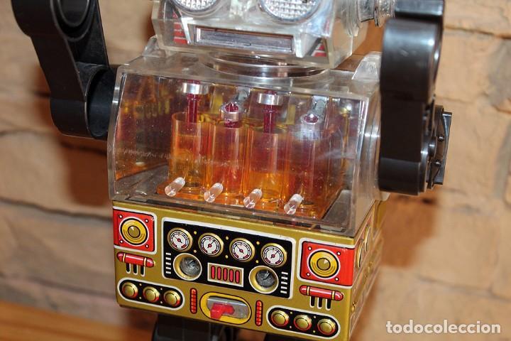 Juguetes antiguos de hojalata: ANTIGUO PISTON ROBOT - HORIKAWA - MADE IN JAPAN - AÑOS 70 - HOJALATA Y PLASTICO - JAPONES - Foto 4 - 213643920