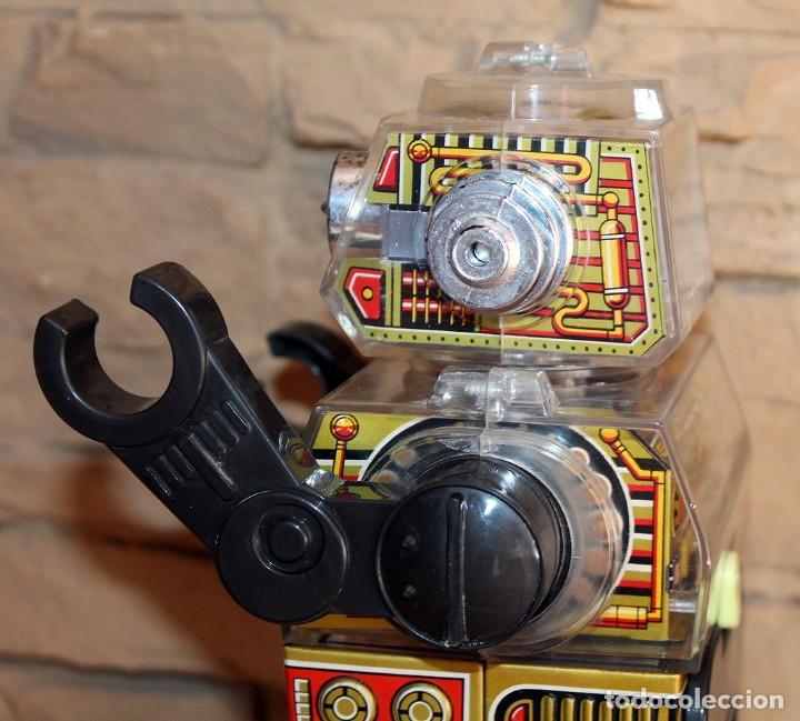 Juguetes antiguos de hojalata: ANTIGUO PISTON ROBOT - HORIKAWA - MADE IN JAPAN - AÑOS 70 - HOJALATA Y PLASTICO - JAPONES - Foto 8 - 213643920