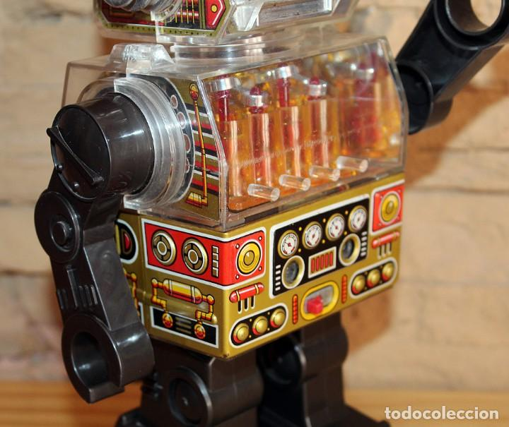 Juguetes antiguos de hojalata: ANTIGUO PISTON ROBOT - HORIKAWA - MADE IN JAPAN - AÑOS 70 - HOJALATA Y PLASTICO - JAPONES - Foto 20 - 213643920