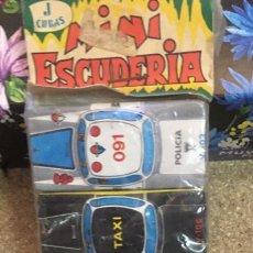 Juguetes antiguos de hojalata: MINI ESCUDERIS 6 COCHES CHAPA. Lote 214693946