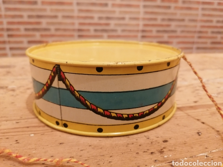 Juguetes antiguos de hojalata: Tambor Rico Hojalata - Foto 3 - 214756412