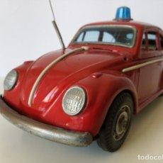Juguetes antiguos de hojalata: COCHE HOJALATA VW VOLKSWAGEN SEDAN 1500 DE TRADEMARK MODERN TOYS - JAPON. Lote 214953681