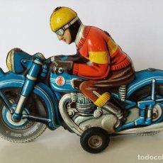 Juguetes antiguos de hojalata: MOTOCICLETA TIPPCO TCO. Lote 214954035
