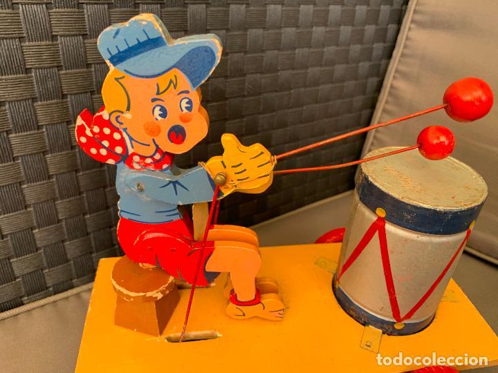 Juguetes antiguos de hojalata: JUGUETE DE ARRASTRE MADERA DE DENIA AÑOS 40-50 - Foto 4 - 215910820