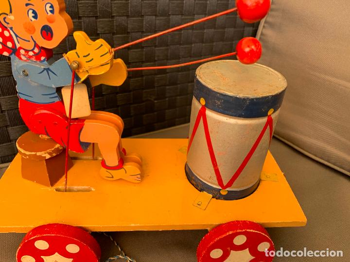 Juguetes antiguos de hojalata: JUGUETE DE ARRASTRE MADERA DE DENIA AÑOS 40-50 - Foto 5 - 215910820