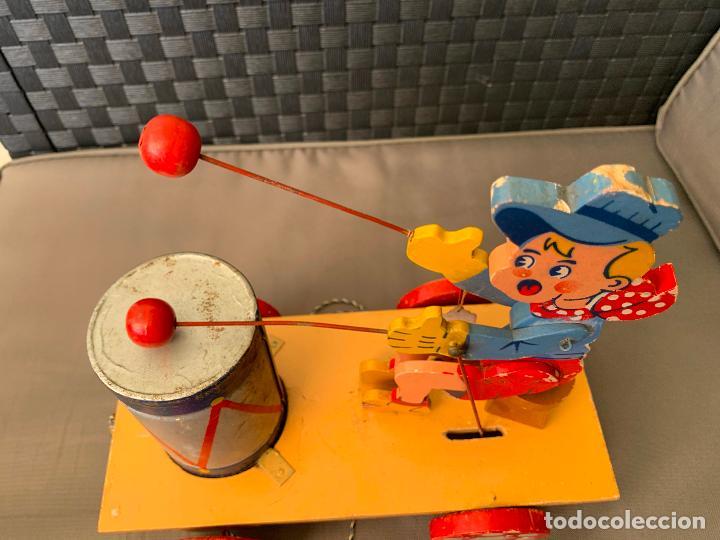 Juguetes antiguos de hojalata: JUGUETE DE ARRASTRE MADERA DE DENIA AÑOS 40-50 - Foto 9 - 215910820