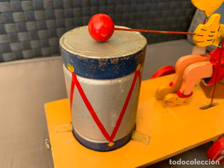Juguetes antiguos de hojalata: JUGUETE DE ARRASTRE MADERA DE DENIA AÑOS 40-50 - Foto 10 - 215910820