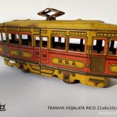 Brinquedos antigos de folha-de-Flandres: TRANVIA RICO HOJALATA AÑOS 40.. Lote 216819630