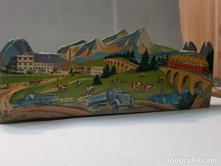 Juguetes antiguos de hojalata: Tren Mont Blanc Express de Chapa de Jouets Mont Blanc muy dificil - Foto 5 - 217044943