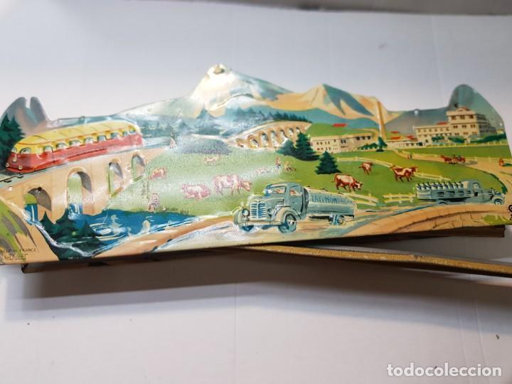 Juguetes antiguos de hojalata: Tren Mont Blanc Express de Chapa de Jouets Mont Blanc muy dificil - Foto 4 - 217044943