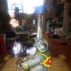 Juguetes antiguos de hojalata: ELEFANTE INDIO EN MOTOCICLO. Lote 217236060