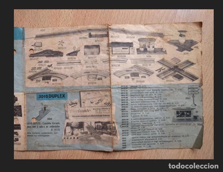 Juguetes antiguos de hojalata: MÓDULOS PISTA COCHES JUEGO SCHUCO PUENTE,DISCO,CRUCES,ETC.SERIE VARIANTO. ALEMANIA AÑOS 40/50 - Foto 11 - 217428575