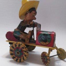 """Juguetes antiguos de hojalata: ANTIGUO JUGUETE DE HOJALATA DE RICO """"VAQUERO MAREADO"""" RODEO. Lote 217985510"""