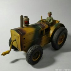 Brinquedos antigos de folha-de-Flandres: TRACTOR MILITAR. Lote 218052173