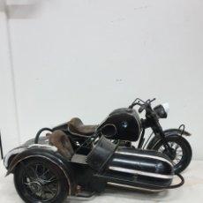 Juguetes antiguos de hojalata: SIDECAR BMW. Lote 218522082